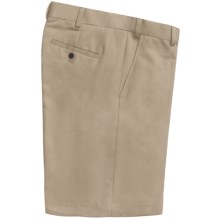 Geoffrey Beene Sorbtek Shorts - Wrinkle Resistant, Flat Front (For Men) in Khaki - Closeouts