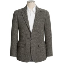 Geoffrey Beene's Multi-Check Harris Tweed Sport Coat - Wool (For Men) in Dark Green - Closeouts