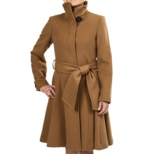 George Simonton Belted Swing Coat - Wool Blend (For Women) in Dark Camel - Closeouts