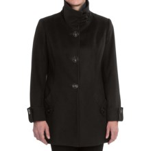 George Simonton Lambswool Pea Coat (For Women) in Black - Closeouts