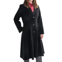 George Simonton Long Wool-Blend Coat - Button Front (For Women) in Black - Closeouts