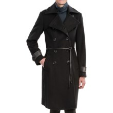 George Simonton Military Walker Coat - Lambswool (For Women) in Black - Closeouts