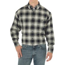 George Strait by Wrangler Western Shirt - Long Sleeve (For Men) in Black/Khaki Plaid - Closeouts