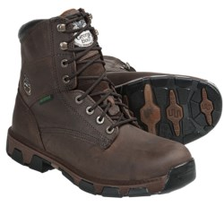 Georgia Boot Leather Work Boots - Waterproof (For Men) in Brown Crazy Horse