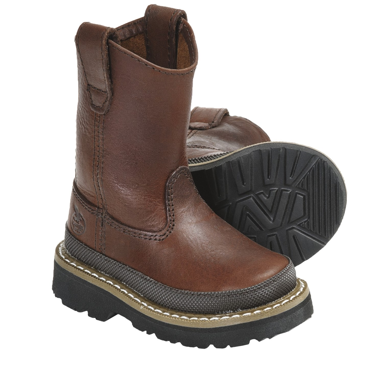 GEORGIA BOOT KiDS CHILDREN'S FULL GRAIN LEATHER LACER BOOTS G size See more like this. G Kids Georgia Boots. Brand New. $ or Best Offer. Free Shipping. GEORGIA BOOT Boys Youth Brown Leather Rubber Work Wellington Boots .