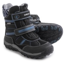 Geox Alaska Boots - Waterproof (For Little and Big Girls) in Black/Grey - Closeouts