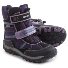 Geox Alaska Boots - Waterproof (For Little and Big Girls) in Purple/Black - Closeouts