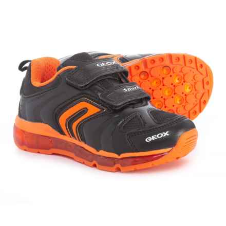 Geox Android Sneakers (For Boys) in Black/Orange - Closeouts