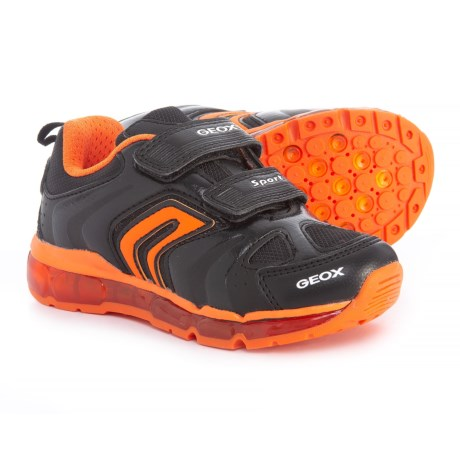Geox Android Sneakers (For Boys) in Black/Orange