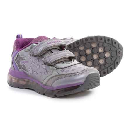 Geox Android Sneakers - Light-Up Outsole (For Girls) in Grey - Closeouts