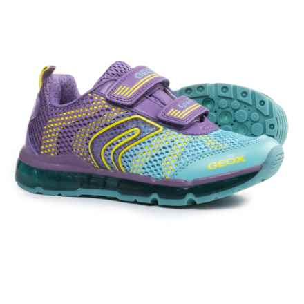 Geox Android Sneakers - Light-Up Outsole (For Little and Big Girls) in Purple/Sky - Closeouts
