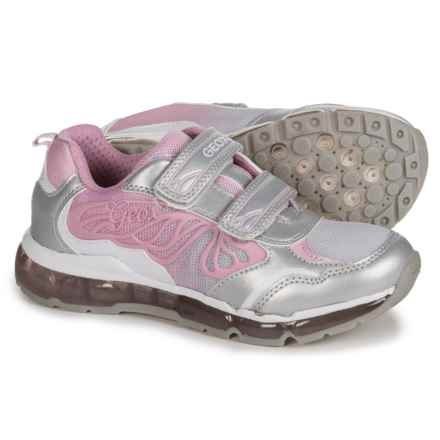 Geox Android Sneakers - Light-Up Outsole (For Little and Big Girls) in Silver/Pink - Closeouts