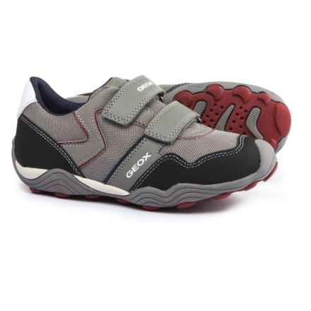 Geox Arno A Sneakers (For Little and Big Boys) in Grey/Dark Red - Closeouts