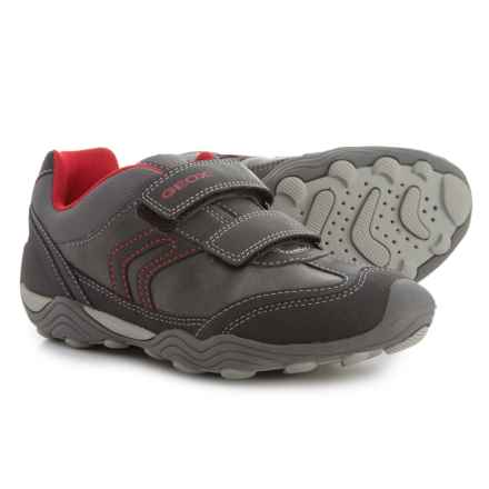 Geox Arno Sneakers (For Big Boys) in Grey/Red - Closeouts