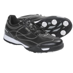 Geox Aura Golf Shoes - Waterproof (For Women) in Black/White
