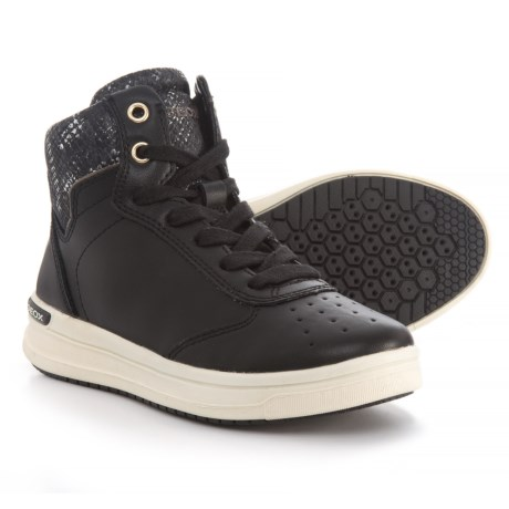 Geox Aveup Mid Sneakers (For Girls) in Black