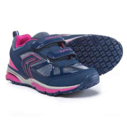 Geox Bernie Sneakers (For Girls) in 414 Navy/Fuchsia - Closeouts