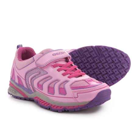 Geox Bernie Sneakers (For Girls) in Pink/Fuchsia - Closeouts
