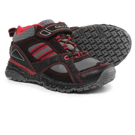 Geox Bernie Sneakers (For Little and Big Boys) in Black/Red - Closeouts