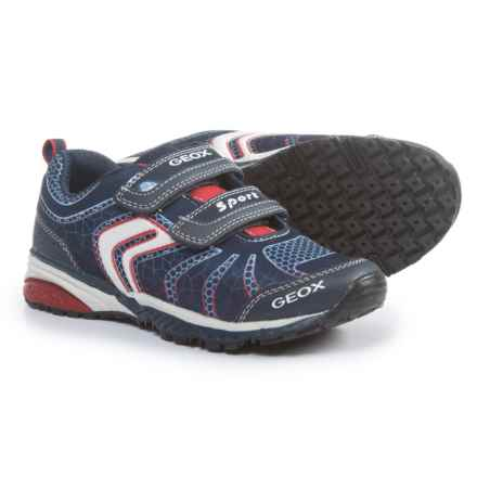 Geox Bernie Sneakers (For Little and Big Boys) in Navy/Red - Closeouts