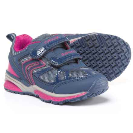 Geox Bernie Sneakers (For Little and Big Girls) in Navy/Fuchsia - Closeouts