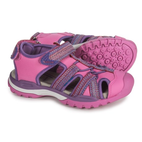 Geox Borealis Sandals (For Girls) in Fuchsia