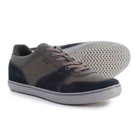 Geox Box Sneakers - Leather (For Men) in Navy/Anthracite - Closeouts