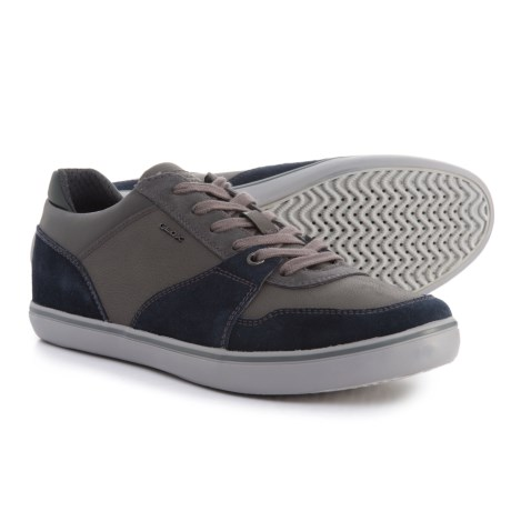 Geox Box Sneakers - Leather (For Men) in Navy/Anthracite