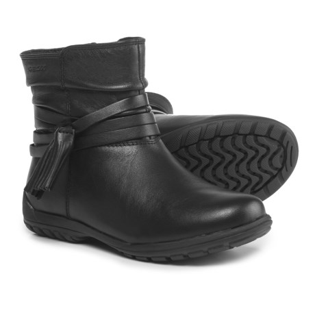 Geox Crissy Leather Boots (For Girls) in Black