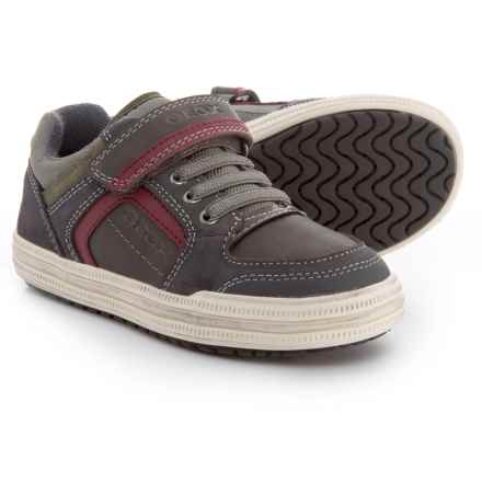 Geox Elvis Sneakers (For Boys) in Dark Grey/Red - Closeouts