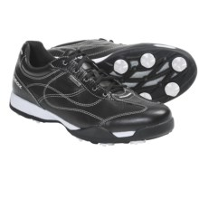 Geox Fusion Aura Golf Shoes - Waterproof (For Women) in Black/White - Closeouts