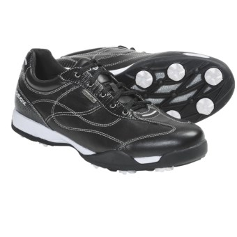 Geox Fusion Aura Golf Shoes - Waterproof (For Women) in Black/White