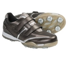 Geox Fusion Tweak Golf Shoes - Waterproof (For Women) in Bronze/Silver - Closeouts