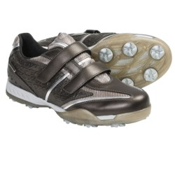 Geox Fusion Tweak Golf Shoes - Waterproof (For Women) in Bronze/Silver