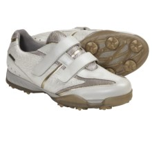 Geox Fusion Tweak Golf Shoes - Waterproof (For Women) in White/Gold - Closeouts