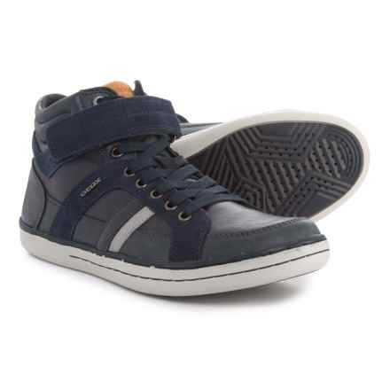 Geox Garcia Mid Sneakers - Leather (For Boys) in Navy - Closeouts