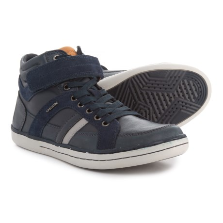 Geox Garcia Mid Sneakers - Leather (For Boys) in Navy