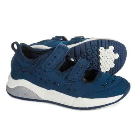 Geox Hideaki Mary Jane Shoes (For Girls) in Navy - Closeouts
