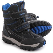 Geox Himalaya Snow Boots - Waterproof (For Little and Big Boys) in Black/Royal - Closeouts