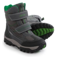 Geox Himalaya Snow Boots - Waterproof (For Little and Big Boys) in Dark Grey/Green - Closeouts