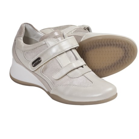 Geox Hit Sneakers - Adjustable Closure (For Women) in Ivory