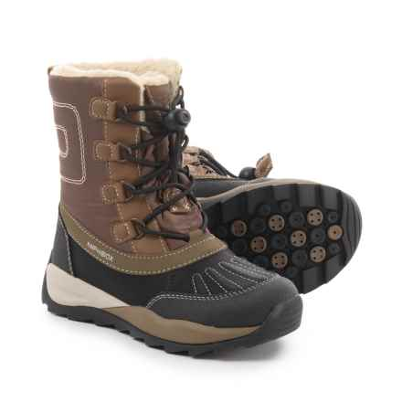 Geox J Orizont B ABX D Snow Boot - Waterproof (For Boys) in Coffee/Black - Closeouts