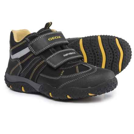 Geox Jr. Baltic Boots (For Boys) in Black/Ochre Yellow - Closeouts