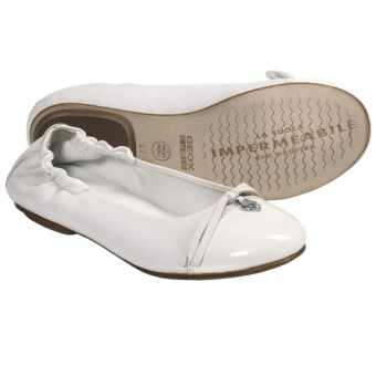 Geox Jr. Flower Cuoio Shoes - Slip-Ons (For Kid and Youth Girls) in White