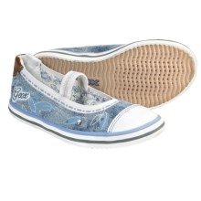 Geox Jr. Kiwi Canvas Shoes - Slip-Ons (For Kids and Youth Girls) in Jeans - Closeouts