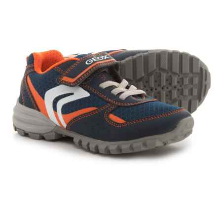 Geox Jr. Wild Sneakers (For Boys) in Navy/Orange - Closeouts