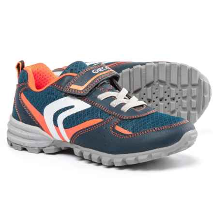 Geox Jr. Wild Sneakers (For Little and Big Boys) in Navy/Orange - Closeouts