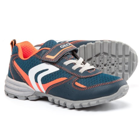 Geox Jr. Wild Sneakers (For Little and Big Boys) in Navy/Orange