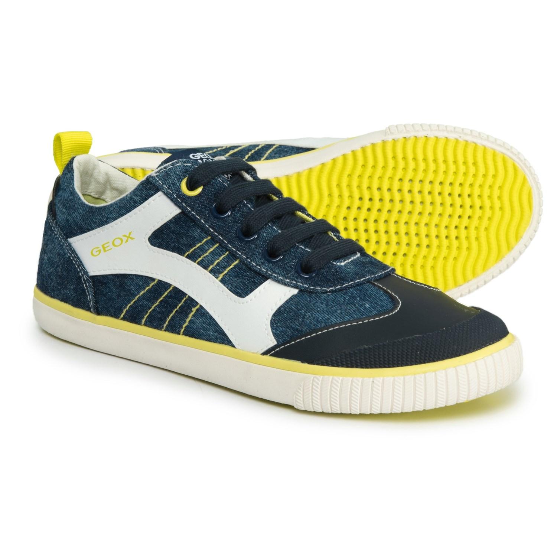 new arrival c44d4 33e9b Geox Kiwi B.J. Jeans Geobuck Sneakers (For Boys) - Save 40%