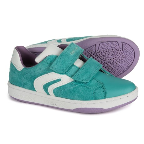 Geox Mania G. A. Sneakers - Suede (For Girls) in Turquoise